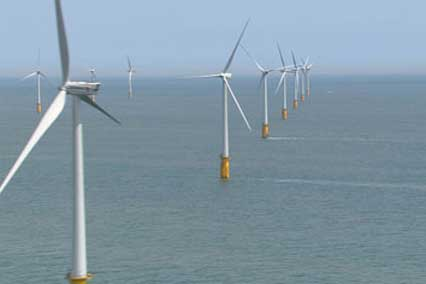 The 300MW Thanet offshore wind farm