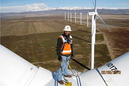 Suzlon technician Kent Smith