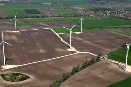 Iberdrola's 50 MW Kisigmand wind farm, made up of 2 MW Gamesa turbines.  Iberdrola is currently constructing 74 MW in Hungary and is among the investors bidding in the 410 MW tender