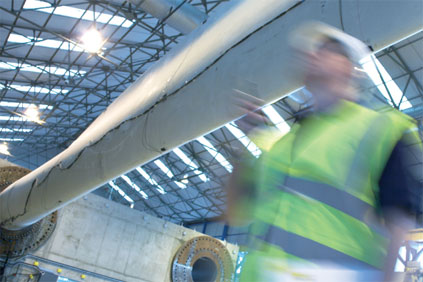 Turbine testing. Narec has the only full-scale blade testing facility in the UK
