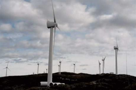 Scanwind turbines at the Hundhammerfjellet project