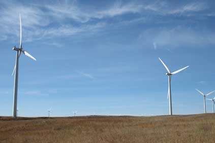 A Nebraskan wind farm in the Sandhills