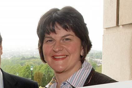 Northern Ireland energy minister Arlene Foster