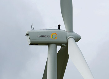 The project uses Gamesa's G80 wind turbine