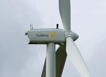 The project uses Gamesa's G80 wind turbine