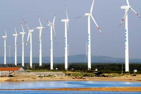Goldwind 1.5MW turbines in use at Shenhua Guohua Zhongdian wind farm in Rongcheng City, Shandong Province