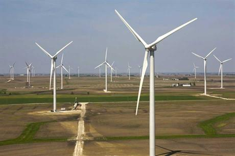 Clipper's Liberty wind turbines at BP's Fowler Ridge wind farm