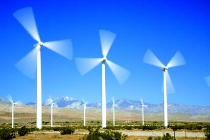 Caption: Iberdrola's 45 MW Dillon wind project went online in 2008