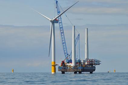 Siemens turbines being installed at Greater Gabbard