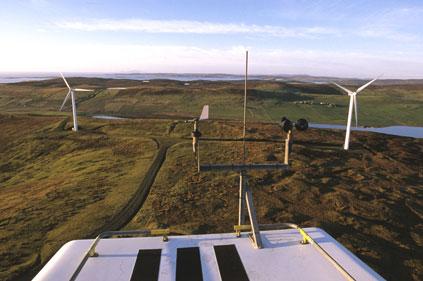 Burradle wind farm, Shetland Isles