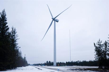 Siemens' prototype SWT-4.0-120 turbine in testing in Østerild, Denmark