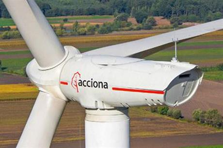 Acciona's 3MW turbines will be installed on the project