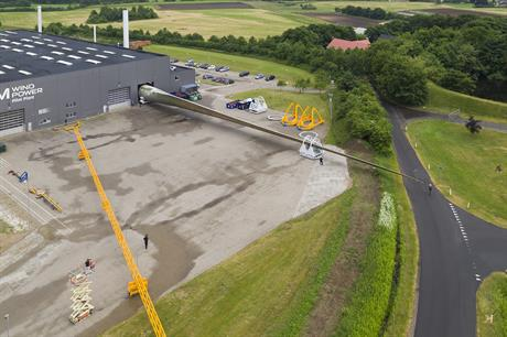 LM Wind Power revealed the world's longest wind turbine blade in June