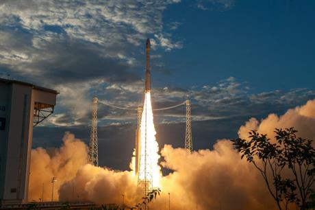 Aeolus heads for orbit (pic credit: ESA/CNES/Arianespace)