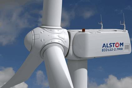 Alstom's ECO112 turbines will be installed on a 119-metre tower