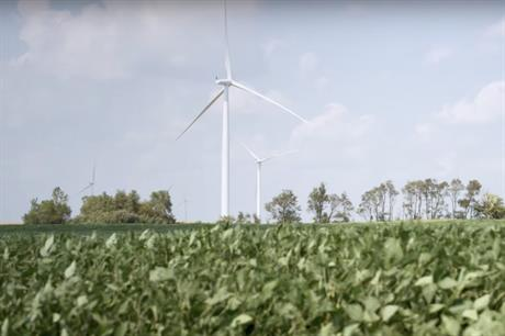 Amazon owns a 150MW eponymous wind farm in Indiana (above)