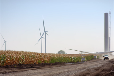 The 150MW Amazon Wind Farm Fowler Ridge site in Indiana