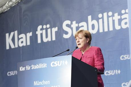 Chancellor Angela Merkel on the campaign trail (pic: CDU)