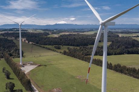 The 129MW Aurora wind farm in Chile, in which Mainstream RP owns a 40% stake