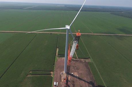 North Carolina's first wind project, the Amazon Wind Farm US East site (pic: Avangrid Renewables/Twitter)