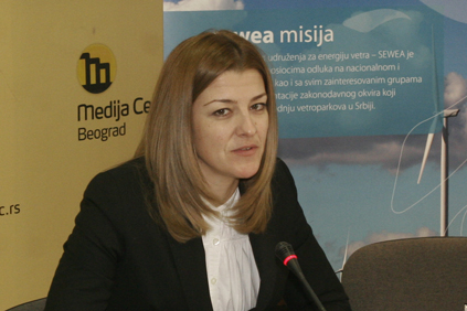 Maja Turkovic, president of the Serbian Wind Energy Association (SEWEA).