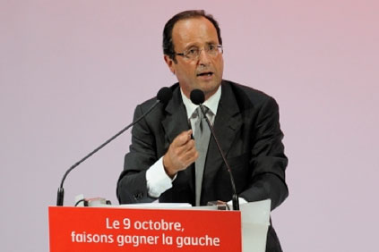 French president Francois Hollande... promised to abolish the five-turbine minimum threshold