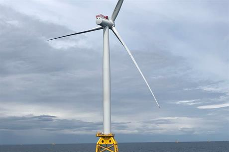 First turbine installed at Beatrice