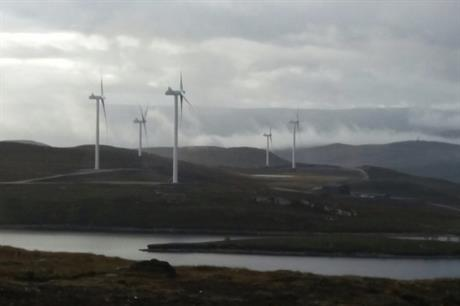 SSE's 32-turbine 108MW Bhlaraidh wind farm in the Scottish Highlands was connected to the grid in August 2017