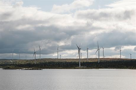The 247.4MW Blaiken project was the largest onshore wind farm commissioned in Europe last year, according to Windpower Intellligence (pic: Fortum)