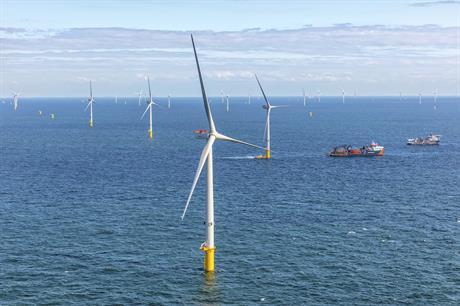 Borssele III & IV will eventually consist of 77 of MHI Vestas' V164-9.5 turbines (pic credit: Flying Focus)