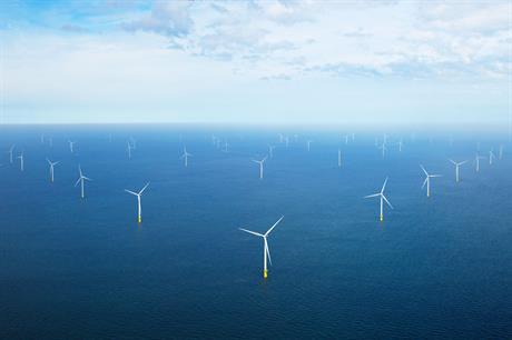 Borssele 1&2 offshore wind farm close to the Sluiskil plant