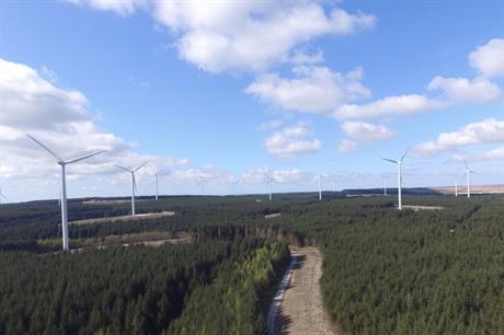 Innogy's 57MW Brechfa Forest project in Wales was commissioned earlier this year