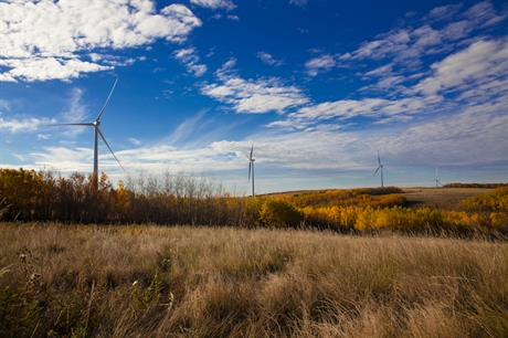 BluEarth Renewables' 29.2MW Bull Creek wind farm in Alberta, Canada