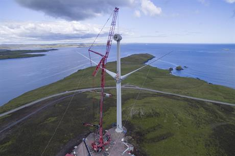Remote island projects can bid for UK CfD support (pic: Burradale Wind Farm/Shetland Aerogenerators/Paul Riddell)