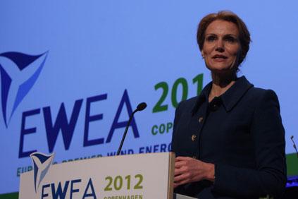 Danish prime minister Helle Thorning-Schmidt opens EWEA 2012