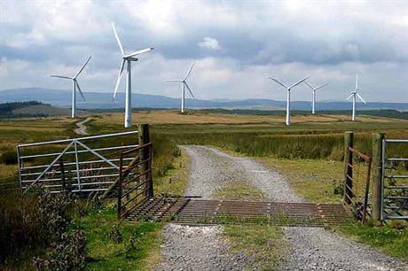 The 33.6MW Carno wind farm