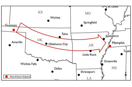 The line will carry wind power from Oklahoma to Tennessee