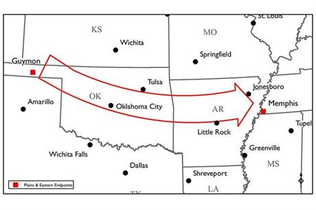 The HVDC line will carry wind power from Oklahoma to Tennessee