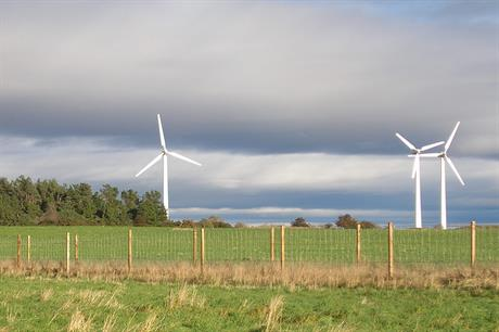 Findhorn community wind park in Scotland