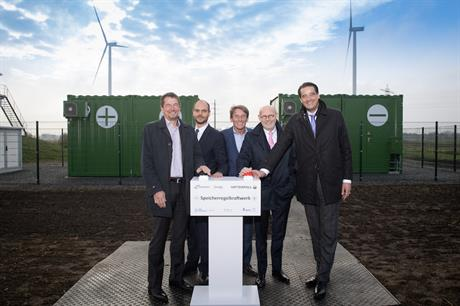 The 720kW/792kWh storage component was commissioned in November 2018 (pic: Nordex)