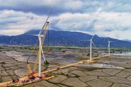 Siemens Gamesa installed three turbines at the Dam Nai project last year (pic: Blue Circle)