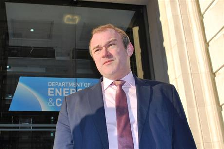 Secretary of state for energy and climate change, Ed Davey
