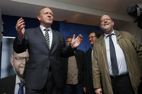 Lars Christian Lilleholt, right, with Lars Lokke Rasmussen during the election campaign (pic: Venstre)