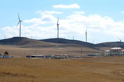 Datang's Chaganhada Wind Farm in Chifeng City, Inner Mongolia