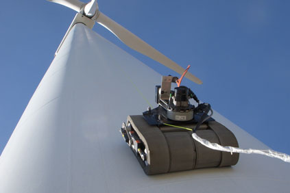 GE remote wind turbine inspection device