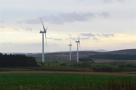EDF Renewables' 12MW Barmoor wind farm in Northumberland, north-east England