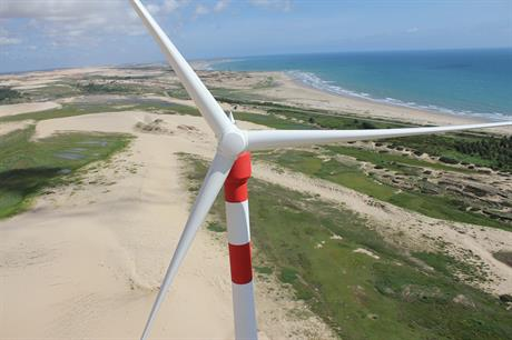 Additional wind projects in Brazil offset lower production at Engie's hydro plants in France during the first half of the year (pic: Abeeolica / Engie)