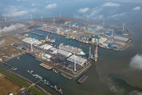 The planned offshore wind capacity would power electrolysers in the port of Eemshaven (pic: Groningen Seaports)