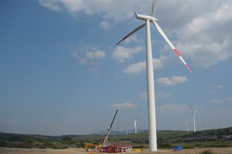 Italy has 8.8GW of wind capacity installed, including Enel Green Power's 80MW Portoscuso project