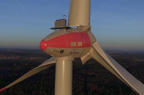 The E115 turbine (like the model above) was damaged last week, Enercon confirmed